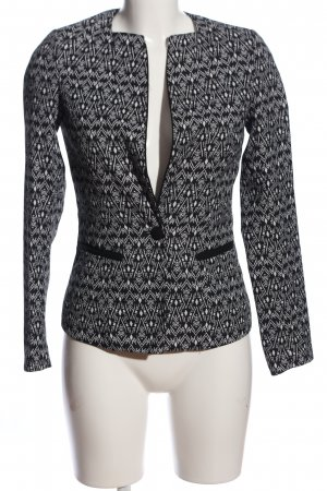 Amisu Kurz-Blazer schwarz-hellgrau Allover-Druck Business-Look