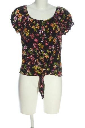 Amisu Blouse à manches courtes motif de fleur style décontracté
