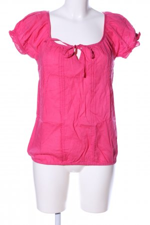 Amisu Kurzarm-Bluse pink Business-Look