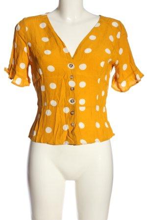 Amisu Short Sleeved Blouse light orange-white spot pattern casual look