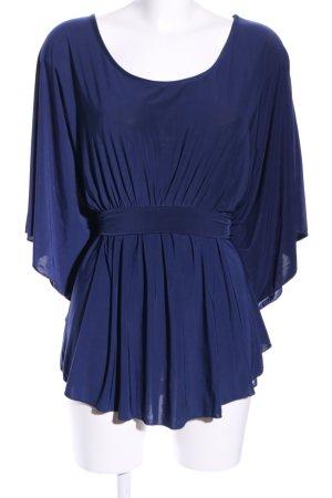 Amisu Blouse met korte mouwen blauw elegant