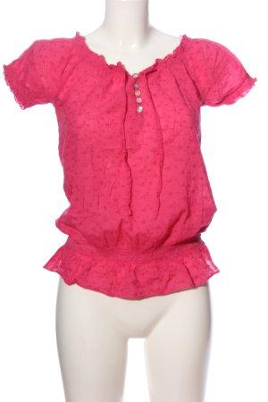 Amisu Kurzarm-Bluse pink Casual-Look
