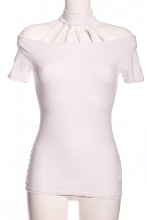Amisu Top cut-out bianco stile professionale
