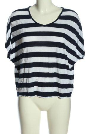 Amisu Oversized Shirt schwarz-weiß Streifenmuster Casual-Look