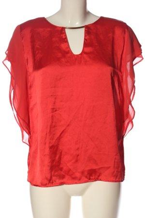 Amisu Kurzarm-Bluse rot Casual-Look