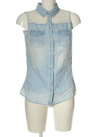 Amisu Kurzarmhemd blau-weiß Casual-Look