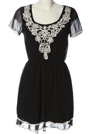 Amisu Kurzarmkleid schwarz Elegant