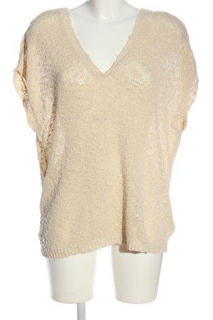 Amisu Sweater met korte mouwen room casual uitstraling