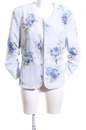 Amisu Veste courte motif de fleur style décontracté