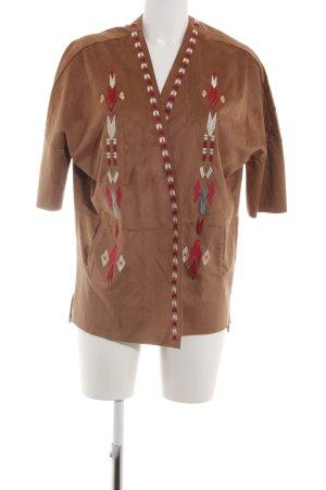 Amisu Short Jacket graphic pattern casual look