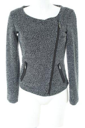 Amisu Veste courte gris clair-noir moucheté style décontracté
