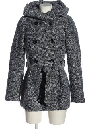 Amisu Cappotto corto grigio chiaro puntinato stile casual