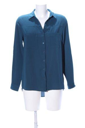 Amisu Blouse met lange mouwen blauw zakelijke stijl