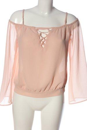 Amisu Langarm-Bluse nude Elegant