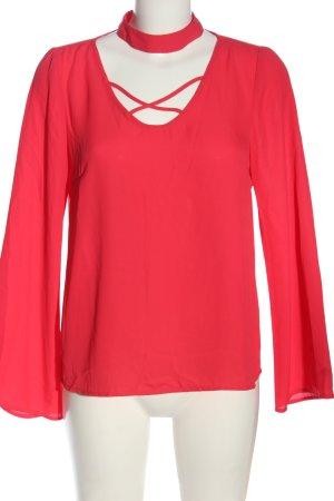 Amisu Langarm-Bluse rot Casual-Look