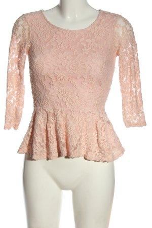 Amisu Long Sleeve Blouse pink-cream elegant
