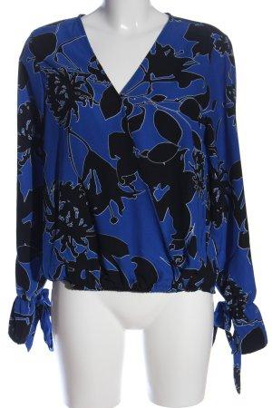 Amisu Langarm-Bluse abstraktes Muster Casual-Look