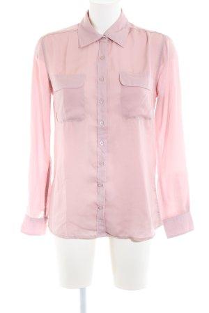 Amisu Langarm-Bluse pink Business-Look