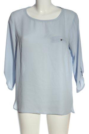 Amisu Bluzka z długim rękawem niebieski W stylu biznesowym