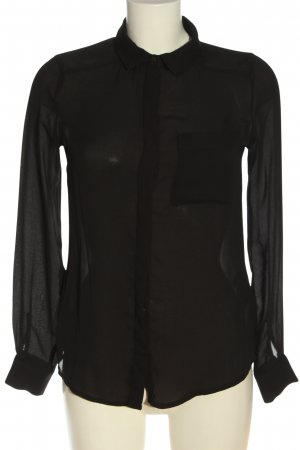 Amisu Camicetta a maniche lunghe nero stile casual