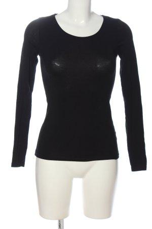 Amisu Langarm-Bluse schwarz Casual-Look