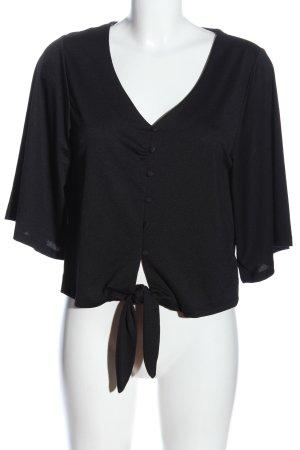 Amisu Long Sleeve Blouse black casual look