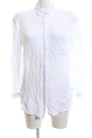Amisu Langarm-Bluse weiß Casual-Look