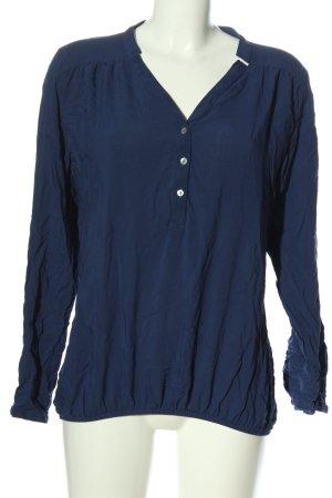 Amisu Langarm-Bluse blau Casual-Look