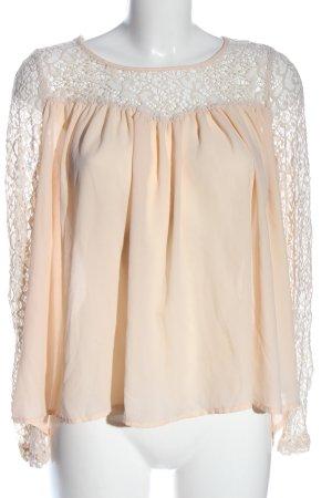 Amisu Langarm-Bluse nude-weiß Casual-Look