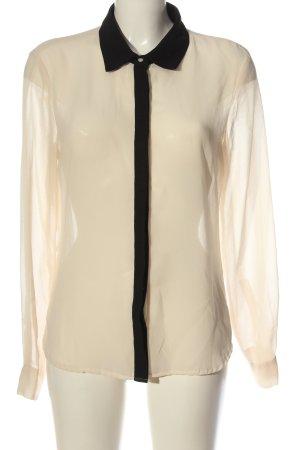 Amisu Langarmhemd creme-schwarz Elegant