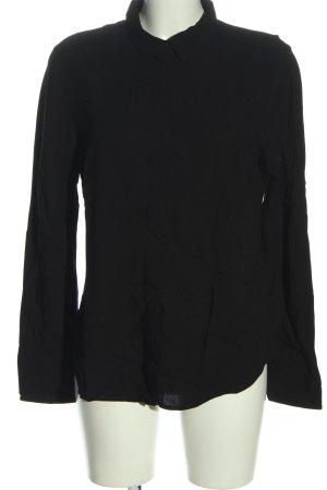 Amisu Langarmhemd schwarz Casual-Look