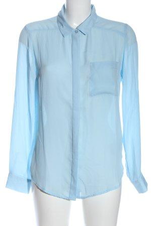 Amisu Langarmhemd blau Business-Look