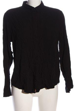 Amisu Chemise à manches longues noir style décontracté