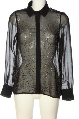 Amisu Langarmhemd schwarz Elegant