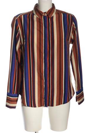 Amisu Koszula z długim rękawem Wzór w paski W stylu biznesowym