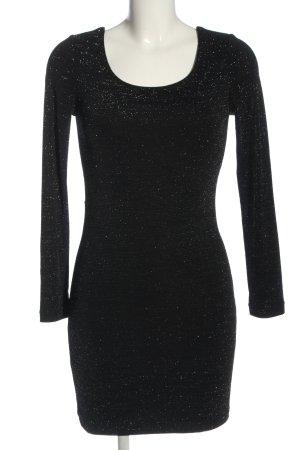 Amisu Langarmkleid schwarz Elegant