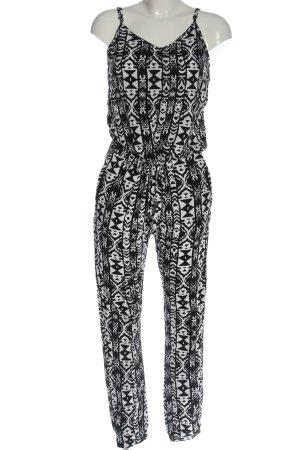 Amisu Langer Jumpsuit black-white allover print casual look