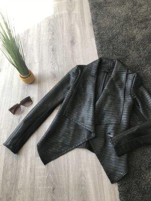 Amisu Chaqueta de cuero negro