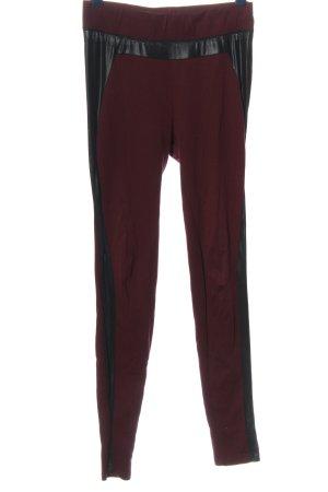 Amisu Leggings rot-schwarz Casual-Look