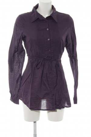Amisu Long-Bluse lila Casual-Look