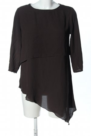 Amisu Long-Bluse braun Business-Look