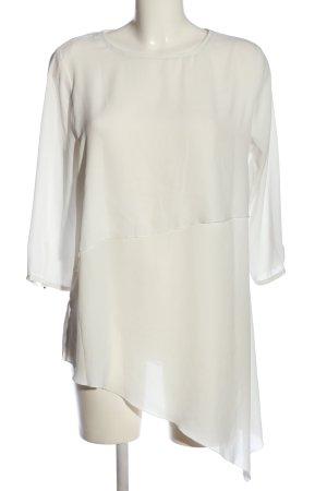 Amisu Long-Bluse wollweiß Elegant