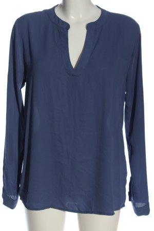 Amisu Długa bluzka niebieski W stylu casual
