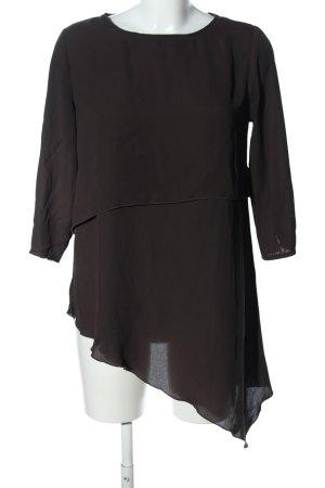 Amisu Long-Bluse braun Business-Look
