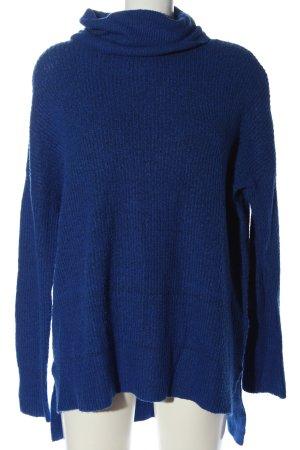 Amisu Długi sweter niebieski W stylu casual