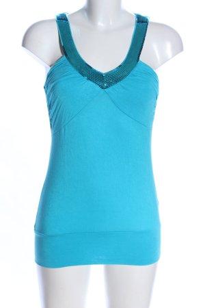 Amisu Lang shirt turkoois casual uitstraling