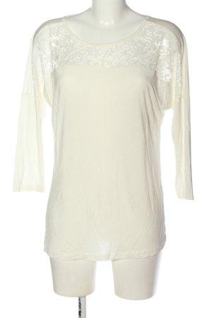 Amisu Koszulka z długim rękawem w kolorze białej wełny W stylu casual