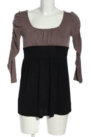 Amisu Longsleeve braun-schwarz Casual-Look