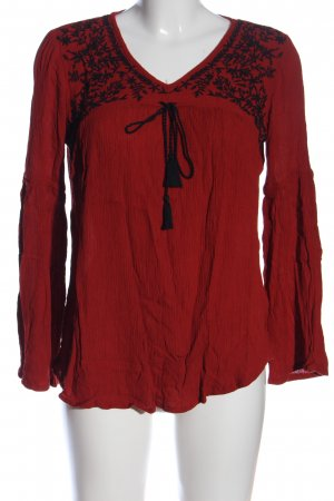 Amisu Longsleeve rot-schwarz Casual-Look