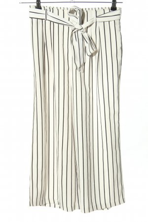 Amisu Marlene Trousers white-black striped pattern casual look
